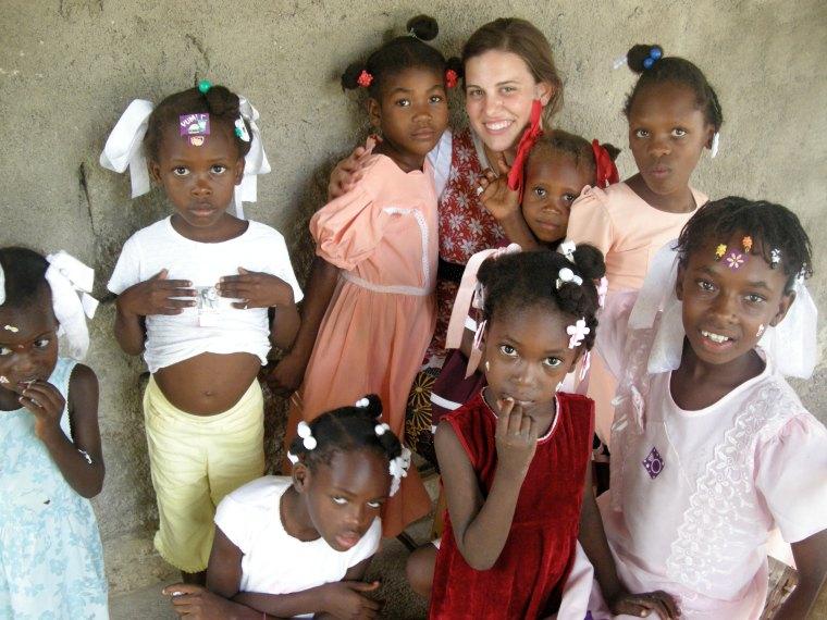 Megan in Haiti, age 18