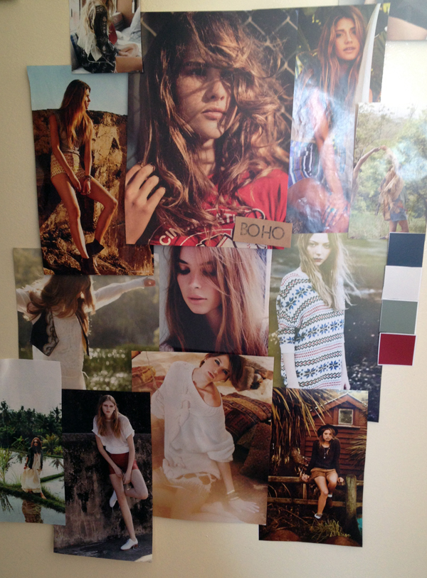 The finished mood board!